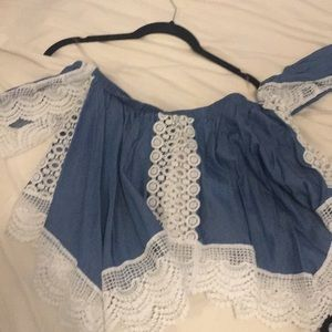 Denim top size large